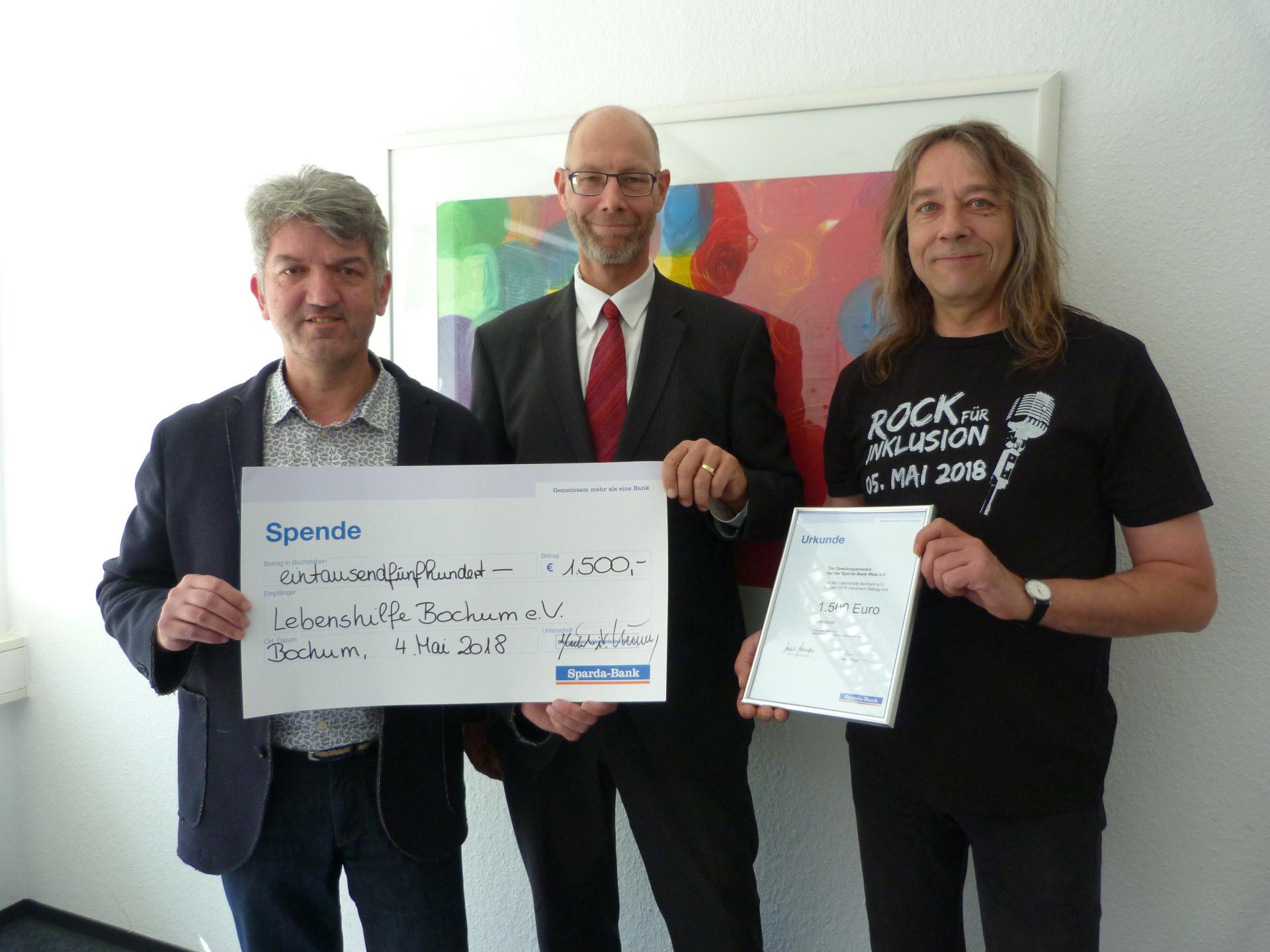 Sparda Bank Unterstutzt Rock Fur Inklusion Lebenshilfe Fur Menschen Mit Geistiger Behinderung Ortsvereinigung Bochum E V